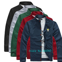 Free shipping 2014 spring and autumn new men's fashion casual men's sportswear cardigan jacket