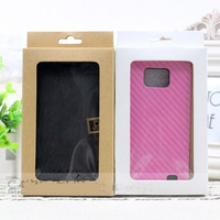 100pcs No printing Paper Packaging Carton Box for iPhone Huawei Xiaomi 3 Phone Leather Case Cover Retail Package