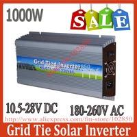 Sale!1000W MPPT grid tie solar inverter,10.5-28V DC,180-260V AC,Solar grid tie inverter,CE,IP23 indoor design