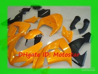 Wholesale - K1621 yellow black fairing kit for ninja ZX-10R 2006 2007 Kawasaki ZX10R 06 07 ZX 10R bodywork