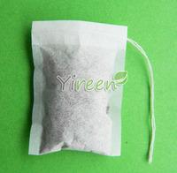 Free shipping! 100pcs/lot  50 X 70mm Empty tea bag, Single drawstring tea bag,  Filter paper, Herb bags