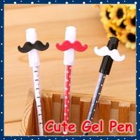 [FORREST SHOP] Office Supplies Kawaii School Stationery Novelty Cute Beard 0.38MM Black Gel Pen SD-33
