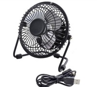 HOT! Mini Portable Black USB Cooler Cooling Fan Full metal aluminum blades computer USB Gadgets mini silent small fan
