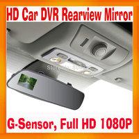 China made Rearview Mirror Car Camera DVR HDMI output Full HD 1080P Black Box Dashboard Super Slim Design G-Sensor