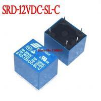 Hot... Free Shipping 25pcs /lot SRD-12VDC-SL-C PCB Type 12V DC SONGLE Power Relay