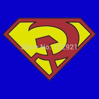 High quality Marvel DC comic cartoon anime superman Russian red son logo funny humor casual fashion tee t-shirt dress camiseta