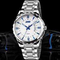 Full Stainless Steel Watch Men Luxury Brand Quartz Watch Analog Display With Auto Date Fashion Causal Men Wristwatch