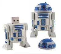 AC73 2014 Free shipping Star Wars R2D2 Cartoon model external storage 2.0 USB disk Flash memory card stick pen drive 1GB to 32GB
