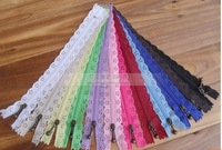 Free Shipping 100 PCS DIY NEW 20CM #3 NYLON COIL LACE ZIPPERS ZIPPER+PULLER for TAILOR SEWER CRAFT BAG
