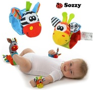2014 New 4pcs/lot baby rattles educational Stuffed & Plush toys Wrist Rattle and Foot Socks Free Shipping