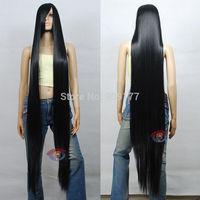 150cm Extra Long Black Cosplay Wig - 60 inch High Temp - CosplayDNA Wigs Natural Kanekalon hair no lace Full wigs