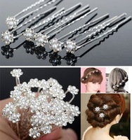Wholesale 120PCS Wedding Bridal Pearl Flower Crystal Hair Pins Clips Bridesmaid