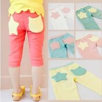 Children's clothing female child trousers capris legging 2014 female child summer
