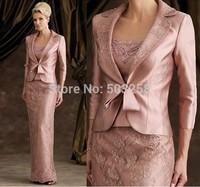 MD66 Long Sleeve Jacket Appliqued Ladies Bridal Mother Dress