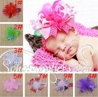 Retail Infant Newborn Baby Headband Girl Boy Photography Props Children Kids Hair Band Head Band 2pcs free shipping TS-14060