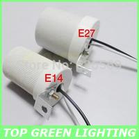 E14 Ceramic Lamp Holder High Temperature E14 Lamp Base for Light Bulb E14 Ceramic Ceiling Mounted Lamp Socket with 20cm Wire