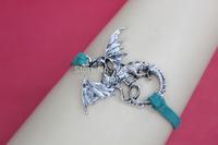 Dragon bracelet-vintage silver Dragon bracelet,friendship bracelet