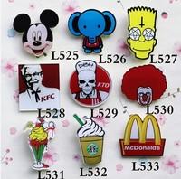 2014 NEW fashion jewelry christmas gift fashion Cute mickey  KFC brooch pins for girls cheap jewelry MIN ORDER $15