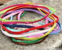 50pcs/lot baby's Hair Circle,1/4'' 6MM  Soft Skinny Elastic baby headband 14 colors,by Chinapost 4036
