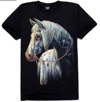 a white horse , new 2014 men's o-neck slim short sleeve t-shirt , free shipping men's cooling summer dress 28