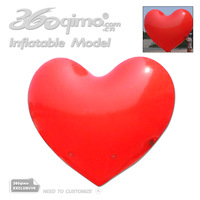 Free shipping !!! 2mD Red inflatable Heart Shape balloon