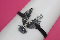 Bronze eagle ,eagle bracelet, brown Velvet cotton braid bracelet ,best gift for friend