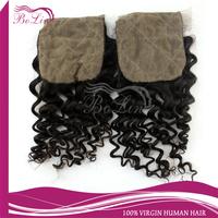 Lace 4*4120% density silk base closure brazilian hair free shippping unprocessed Brazilian remy hair deep curly silk top closure