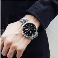 New 2014 Fashion Men's Watches Quartz Watch Men Full Steel Watch Brand Hot Personalized Military Watches Men Wristwatches B008