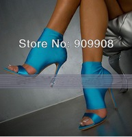 2014 New Women Summer Mesh Sandals Fashion Thigh High Heel Sandal Shoes For Woman Ankle Boots