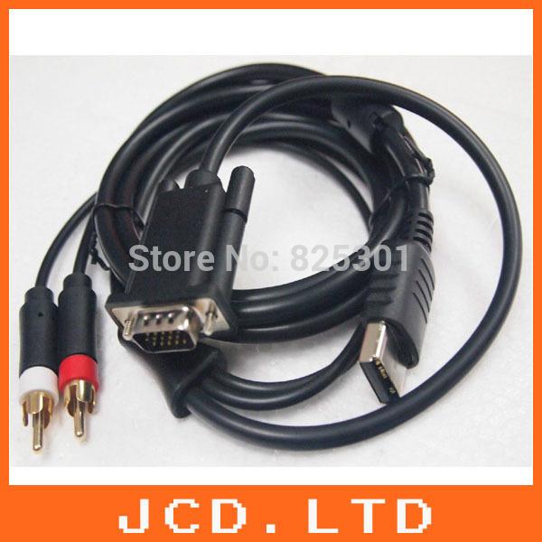 For SEGA Dreamcast VGA High Definition Cable RCA Sound Adapter HD box PAL NTSC(China (Mainland))
