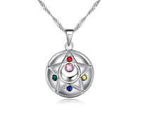 Silver Necklace Pretty Guardian Sailor Moon Sterling Pendant Necklace Cosplay