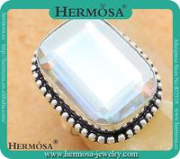 Hermosa украшения сияющий факт мистический топаз Леди вечер сторона кольца античный Серебряный аксессуар размер 7 gm666