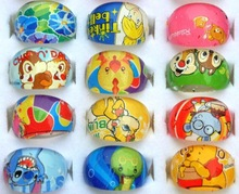 50pcs Children Kids Girls Cartoon Rings Lovely Superman Animation Cartoon Child s Resin Rings Jewelry Jewellery