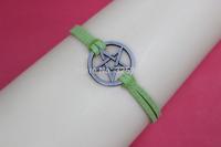 pentagram / star Bracelet ------Pretty retro silver pentagram Bracelet ,blue bracelet