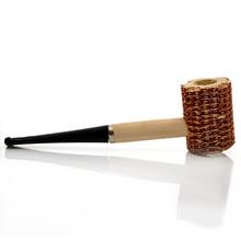 New Fashion Medium Corn Shape Tobacco Smoking Pipe Black