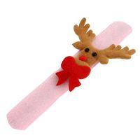 2pcs Christmas Theme Lovely Slap Bracelet/bangle XMA Decor Pat Circle Gift(pink deer) 62605