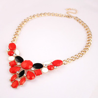 New Arrival Zinc Alloy Women's Jewelry,Fashion Women's Necklace,Multicolor Acrylic Necklace,Free Shipping NL-63