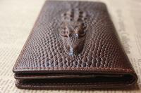 2014 New Brand Vintage Wallets For Men Long Deisgn Alligator Pattern 100% Genuine Leather Men's Purses / Wallets / Card holder