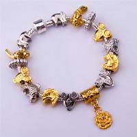 PA1276 925 Tibetan Silver Murano Glass For Women Chamilia Bracelet 2014 New Bracelets&Bangles Free Shipping Charm Beads Bracelet