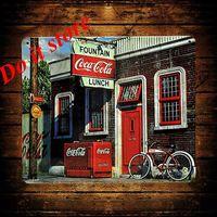 [ Do it ] Vintage Tin Signs PUB House Cafe Retro Metal painting Retro Craft Decor 19*21 CM J-3
