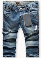 Retail 1pcs fashion cool cotton denim boys jeans brand children's long pants for 2-10 years kids in stock za8820