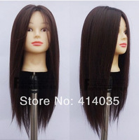 long browns Straight Kanekalon wig mannequin head headform hair maker Shelf  Kanekalon Fiber Hair full Wig