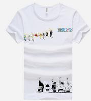 cartoon one piece , free shipping men's fashion slim t-shirt , new 2014 soft cotton men's t shirt , cooling man summer dress 23