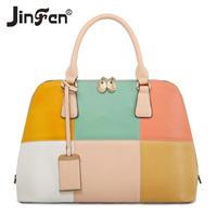 2014 spring and summer women's handbag fashion color block patchwork messenger bag