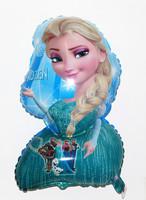 Cartoon Metallic Happy Birthday Decoration Frozen Princess Queen Anna Round Balloon for Kids Party Supplies Foil Ballon,80*65cm