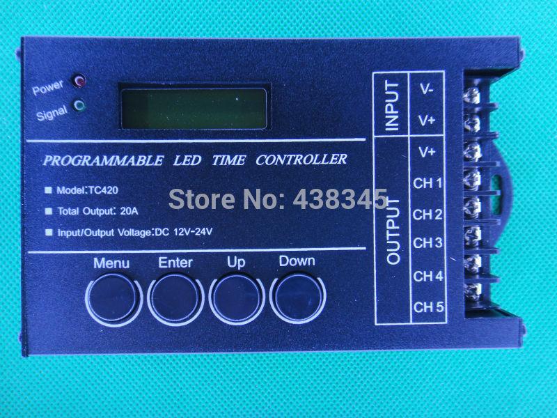 nuovo 2014 tempo programmabile led controller programma orario led di controllo dc12 24v usb interfaccia rgb controller tc420 spedizione gratuita