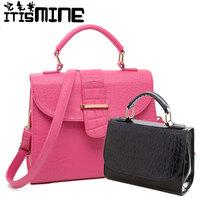 Women's bag crocodile pattern fashionable casual bag handbag vintage preppy style bag