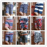 Male casual summer shorts male slim knee-length pants beach pants breeches capris