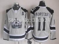 2014 Stadium Series Los Angeles Kings LA Kings 11 Anze Kopitar Grey Mens Ice Hockey Jersey size 48-56 Allow Drop Shipping