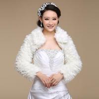 The bride wedding dress cape evening dress cape winter fur shawl cape long-sleeve thermal mpj010